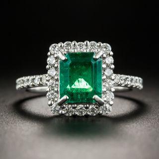 Estate 1.52 Carat Emerald and Diamond Ring - 1