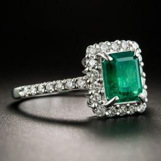 Estate 1.52 Carat Emerald and Diamond Ring