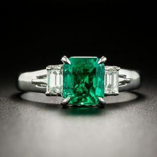 Estate 1.60 Carat Emerald and Diamond Ring - 2