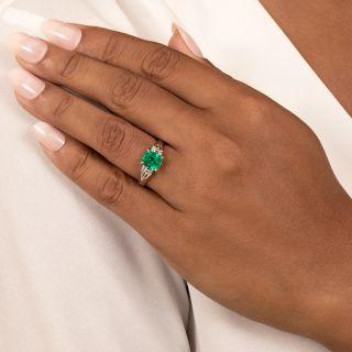 Estate 1.60 Carat Emerald and Diamond Ring