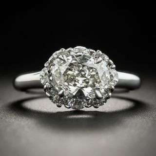 Estate 1.63 Carat Oval Diamond Ring - GIA K SI1 - 2