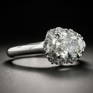 Estate 1.63 Carat Oval Diamond Ring - GIA K SI1