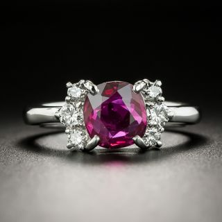 Estate Ruby and Diamond Ring - 7