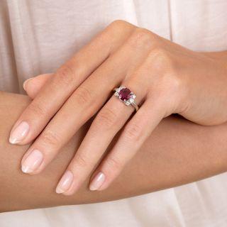 Estate 1.66 Carat Ruby and Diamond Ring