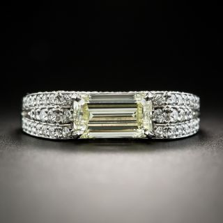 Estate 1.68 Carat Emerald-Cut Diamond Ring - GIA W-X VS1 - 1