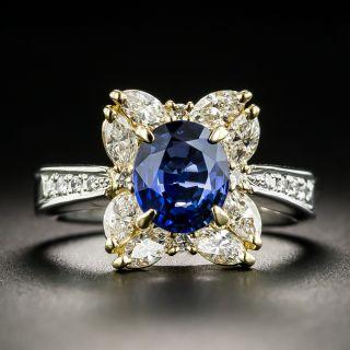 Estate 1.71 Carat Sapphire and Diamond Ring - 1