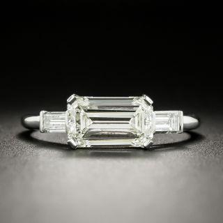 Estate 1.74 Carat Emerald-Cut Diamond Engagement Ring - GIA L VS1 - 2