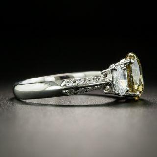 Estate 1.78 Carat Natural Fancy Brownish Yellow Oval Diamond Engagement Ring - GIA