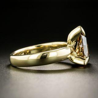 Estate 1.79 Carat Pear-Shaped Diamond Ring - GIA Fancy Dark Orangey Brown