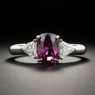 Estate 1.80 Carat Purple Sapphire and Diamond Ring - 1