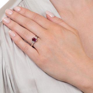 Estate 1.80 Carat Purple Sapphire and Diamond Ring