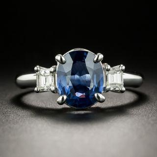 Estate 1.90 Carat Sapphire and Diamond Ring - 3