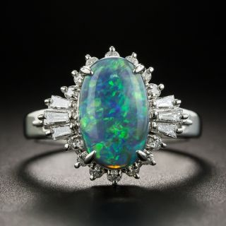 Estate 1.91 Carat Opal and Diamond Ring - 1