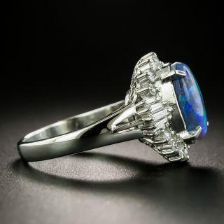 Estate 1.95 Carat Black Opal and Diamond Ring