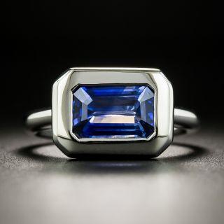 Estate 1.97 Carat Emerald-Cut Sapphire Ring - 2