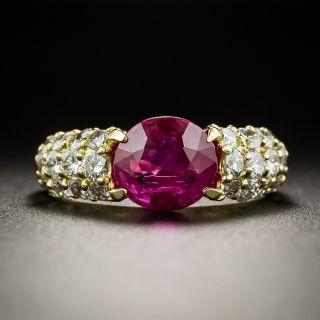 Estate 1.98 Carat Burmese Ruby and Diamond Ring - 2