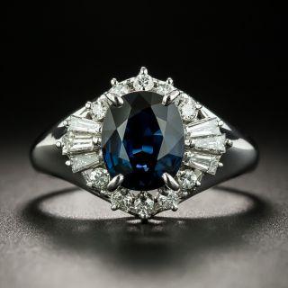 Estate 1.99 Carat Sapphire and Diamond Ring - 1