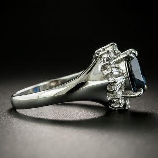 Estate 1.99 Carat Sapphire and Diamond Ring