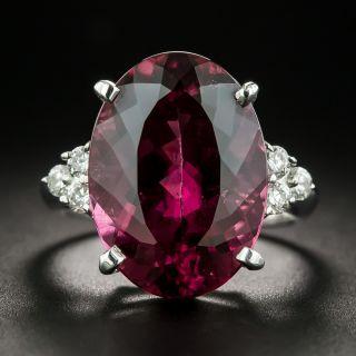 Estate 11.78 Carat Pink Tourmaline and Diamond Ring - 2