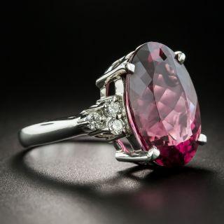 Estate 11.78 Carat Pink Tourmaline and Diamond Ring