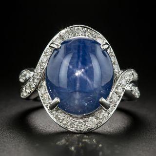 Estate 12.80 Carat No-Heat Ceylon Star Sapphire and Diamond Ring - 1