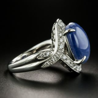 Estate 12.80 Carat No-Heat Ceylon Star Sapphire and Diamond Ring