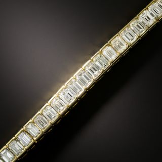 18.50 Carat Emerald-Cut Diamond Line Bracelet - 2