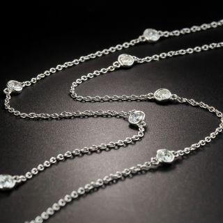 Estate 18 Inch Diamond Chain Necklace - 3