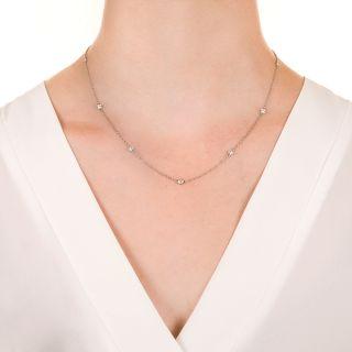 Estate 18 Inch Diamond Chain Necklace