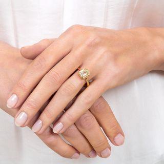 Estate 2.00 Carat Emerald-Cut Diamond Engagement Ring