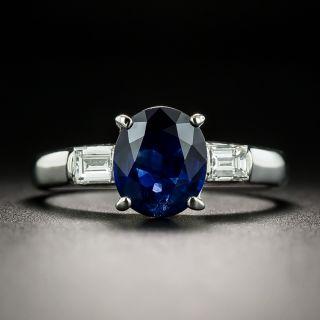 Estate 2.00 Carat No-Heat Sapphire and Diamond Ring - 2