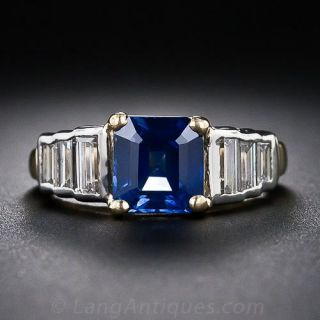 Estate 2.00 Carat Sapphire and Diamond Ring