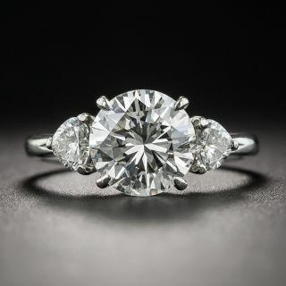 Estate 2.03 Carat Diamond Platinum Engagement Ring - GIA J SI1 - 7