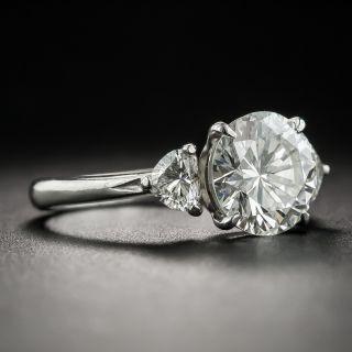 Estate 2.03 Carat Diamond Platinum Engagement Ring - GIA J SI1