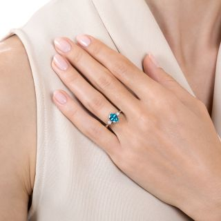 Estate 2.03 Carat Zircon and Diamond Ring