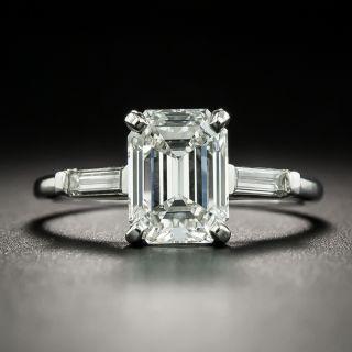 Estate 2.14 Carat Emerald-Cut Diamond Engagement Ring - GIA F SI2 - 2
