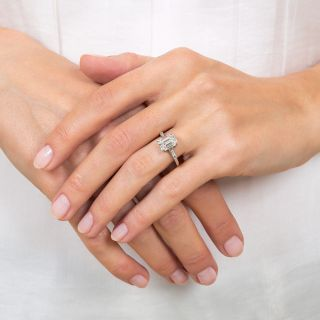 Estate 2.14 Carat Emerald-Cut Diamond Engagement Ring - GIA F SI2