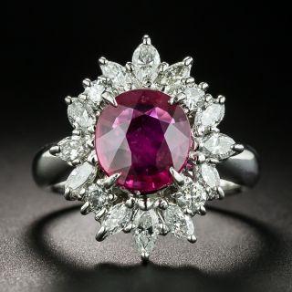 Estate 2.16 Carat Ruby and Diamond Ring - 1