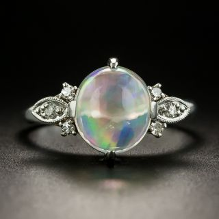Estate 2.25 Carat Jelly Opal and Diamond Ring - 2