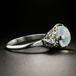 Estate 2.25 Carat Jelly Opal and Diamond Ring