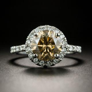 Estate 2.29 Carat Natural Dark Yellowish- Brown Diamond Ring - GIA - 2