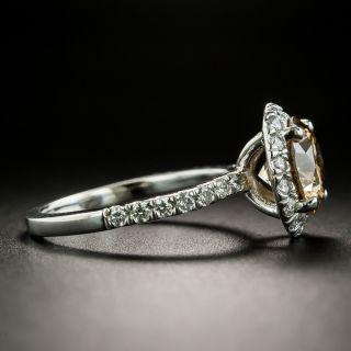 Estate 2.29 Carat Natural Dark Yellowish- Brown Diamond Ring - GIA