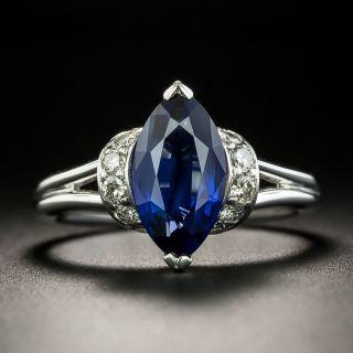 Estate 2.31 Carat Marquise-Cut Sapphire and Diamond Ring - 2