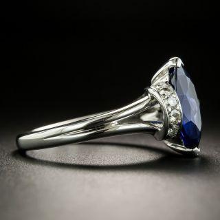 Estate 2.31 Carat Marquise-Cut Sapphire and Diamond Ring