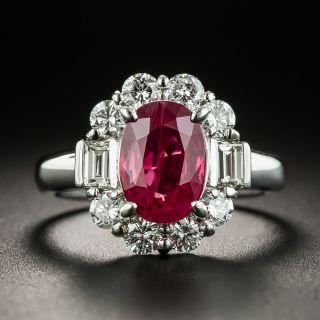 Estate 2.34 Carat Burma Ruby and Diamond Ring - GIA - 2