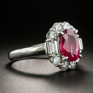Estate 2.34 Carat Burma Ruby and Diamond Ring - GIA