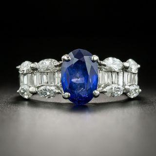 Estate 2.36 Carat No-Heat Burma Sapphire and Diamond Ring - GIA - 1