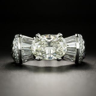 Estate 2.41 Carat Oval-Cut Diamond Ring - 2