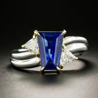 Estate 2.42 Carat Sapphire and Diamond Ring - 3