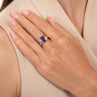 Estate 2.42 Carat Sapphire and Diamond Ring